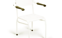 Shower chair textile seat